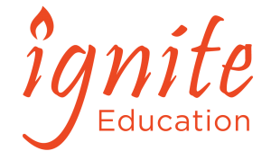 ignite education teacher of the year logo