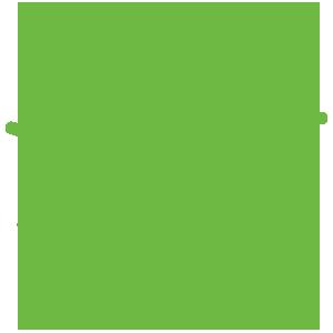 green light bulb outline